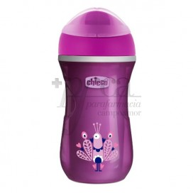 CHICCO VASO ACTIVE TERMO +14M MORADO 266ML