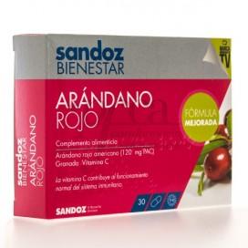 SANDOZ BIENESTAR ARANDANO ROJO 30 CAPS