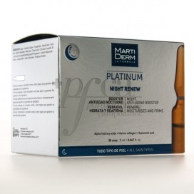 MARTIDERM PLATINUM NIGHT RENEW 30 AMPOLAS 2ML