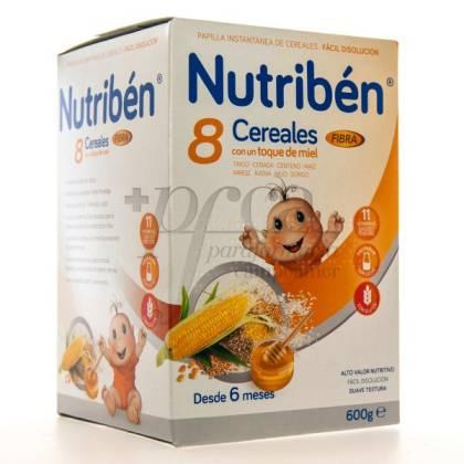 NUTRIBEN 8 CEREALES Y MIEL FIBRA 600G