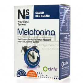 NS MELATONINA 1,95MG 30 COMPS MASTICABLES