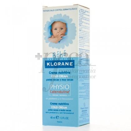 KLORANE BEBE CREMA NUTRITIVA COLD CREAM 40ML