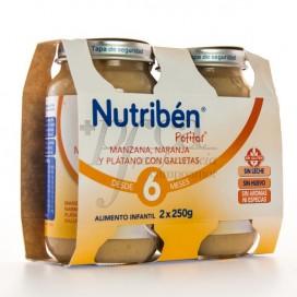 NUTRIBEN MANZANA PLATANO GALLETA 6M+ 2X 250G