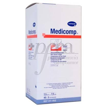 MEDICOMP COMPRESAS 7,5X7,5CM 40X 5U REF 411052