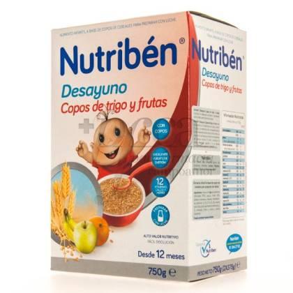 NUTRIBEN DESAYUNO COPOS TRIGO Y FRUTAS 12M+ 750G