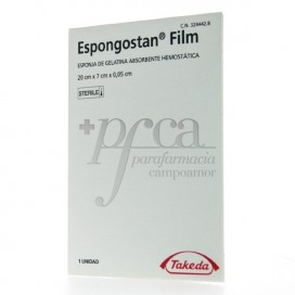 ESPONGOSTAN FILM GELATIN SPONGE 20X7X0,05CM 1U