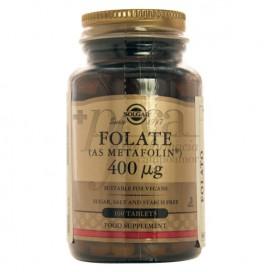 FOLATE 400MCG 100 COMPRIMIDOS SOLGAR