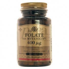 FOLATE 400MCG 100 COMPS SOLGAR