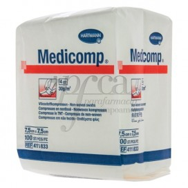 MEDICOMP COMPRESAS NO ESTERILES 7,5X7,5 CM 100 UDS HARTMANN