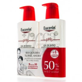 EUCERIN PH5 GEL DE BAÑO 400ML + 400ML PROMO