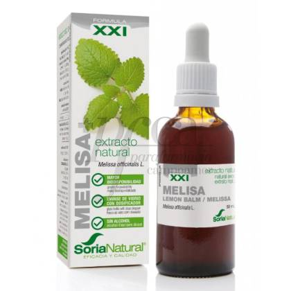 FORMULA XXI LEMON BALM NATURAL TINCTURE 50 ML SORIA NATURAL