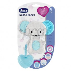 CHICCO FRESH FRIEND MORDEDOR 3EN1 4M+ AZUL