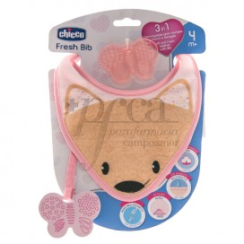 CHICCO FRESH BIB BEIßRING 3IN1 4M+ ROSA