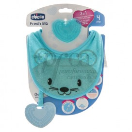 CHICCO FRESH BIB BEIßRING 3IN1 4M+ BLAU