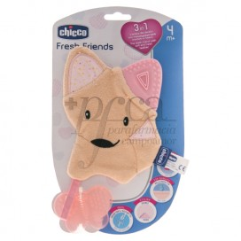 CHICCO FRESH FRIENDS MORDEDOR 3EN1 4M+ ROSA