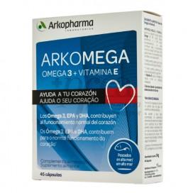 ARKOMEGA 3 AMEGA 3 + VITAMIN E 45 CAPSULES
