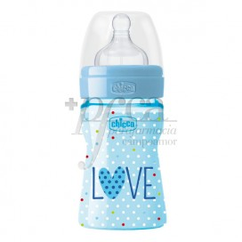 CHICCO WELLBEING LOVE BIBERON SILICONA 0M+ 150ML