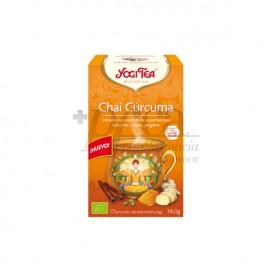 YOGI TEA TUMERIC CHAI 17 TEA BAGS
