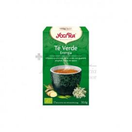 YOGI TEA CHÁ VERDE ENERGIA 17 SAQUINHOS DE CHÁ