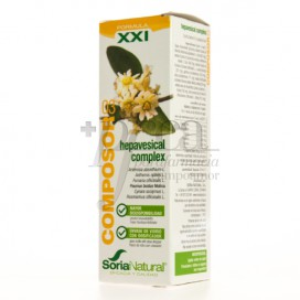 FORMULA XXI COMPOSOR 03 HEPVESICAL 50 ML SORIA NATURAL