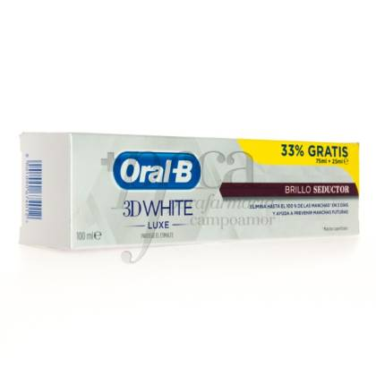 ORAL-B 3D WHITE LUXE TOOTHPASTE 75ML + 25ML PROM