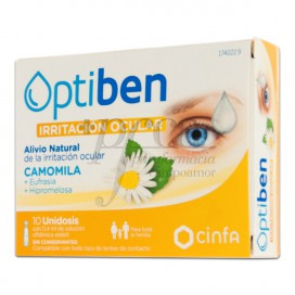 OPTIBEN IRRITATED EYES 10 SINGLE DOSE VIALS 0.4