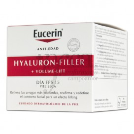 EUCERIN HYALURON VOLUME DIA SPF15 PIEL SECA 50 ML