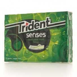TRIDENT SENSES RAINFOREST MINT 12 GUMS