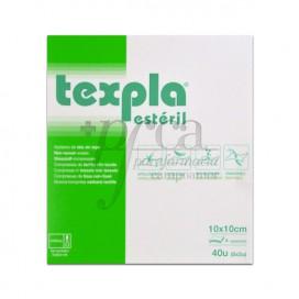 TEXPLA NON-VOWEN STERILE SWABS 10X10CM 40U