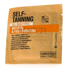 COMODYNES SELF-TANNING NATURAL AND FAST ALL SKIN TYPES 1 WIPE