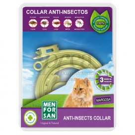 MENFORSAN COLLAR ANTI-INSECTOS PARA GATOS 33 CM