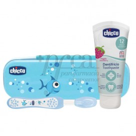 CHICCO SET DE HIGIENE ORAL 12M+ AZUL