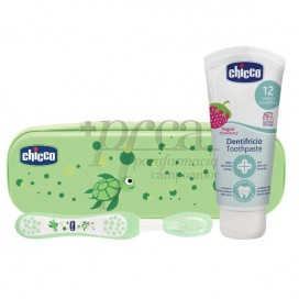 CHICCO SET DE HIGIENE ORAL 12M+ VERDE