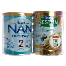 NAN 2 OPTIPRO 800 G + NESTUM 5 CEREAIS PROMO