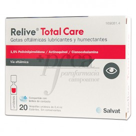RELIVE TOTAL CARE EYE DROPS 20 SINGLE DOSE