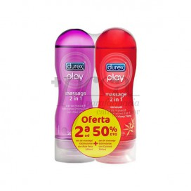 DUREX PLAY MASAJE 2 EN 1 ALOE VERA 200 ML + PLAY MASAJE SENSUAL 200 ML PROMO