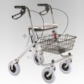 WALKER ROLLATOR 4WHEELS BRAKE-SEAT AD100