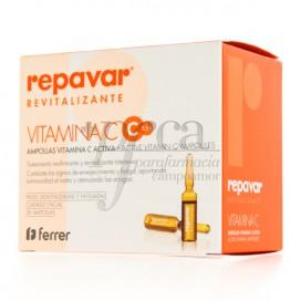 REPAVAR REVITALIZANTE VITAMINA C 20 AMPOLAS
