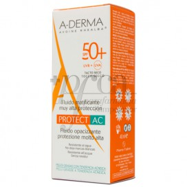 A-DERMA PROTECT-AC FLUID MATIFICANTE SPF50 40 ML