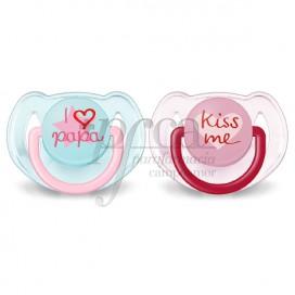 AVENT I LOVE PAPA & KISS 6-18M 2 UNIDADES
