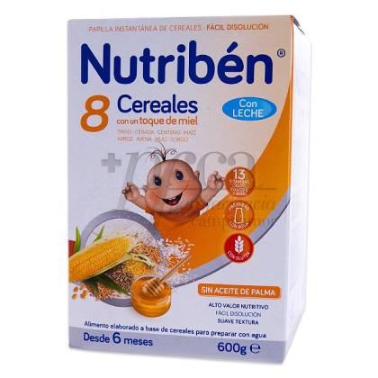 NUTRIBEN 8 CEREALES Y MIEL C LECHE ADAPTADA 600G