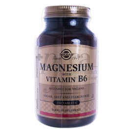 MAGNESIUM WITH VITAMIN B6 SOLGAR