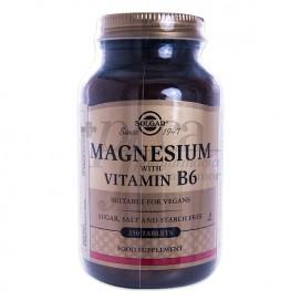 MAGNESIUM WITH VITAMIN B6 250 TABLETS SOLGAR
