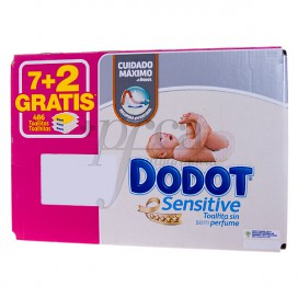 DODOT CAJA DE TOALLITAS 7+2 UDS PROMO