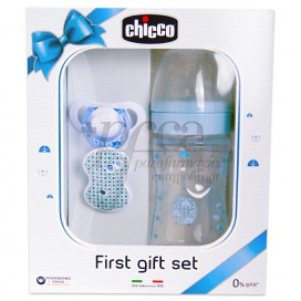 CHICCO FIRST GIFT SET PACKUNG BLAU PROMO