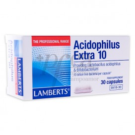 LAMBERTS ACIDOPHILUS EXTRA 10 30 CÁPSULAS