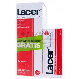 LACER MOUTHWASH 500ML TOOTH GEL 35ML PROMO