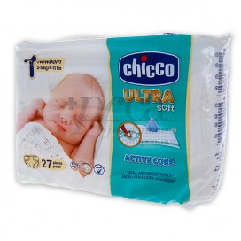 CHICCO DIAPERS ULTRA SOFT NEWBORN SIZE 1 2-5KG 27 UNITS