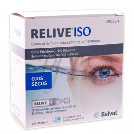 RELIVE ISO EYE DROPS 30 SINGLE-DOSIS OF 0,4ML