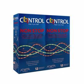 CONTROL CONDOMS NON STOP 12 UNITS + 12 UNITS PROMO